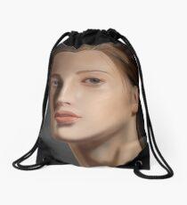 Beautiful Girl Portrait Painting Drawstring Bag