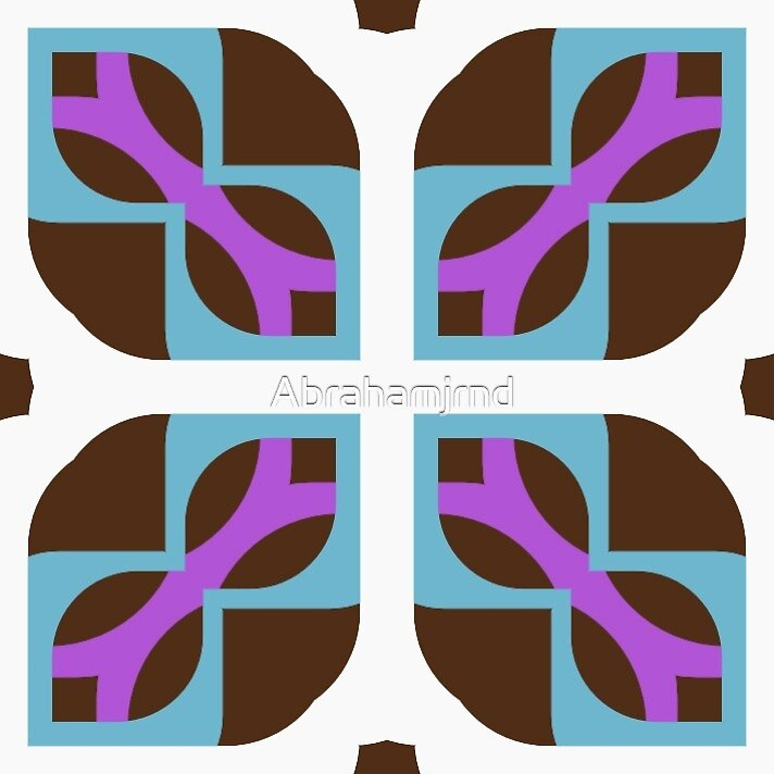sixties artwork 60's seamless colorful repeat pattern by Abrahamjrnd