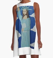 THE STATUE OF LIBERTY 2000 A-Line Dress