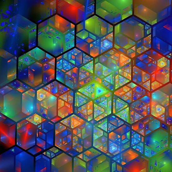 Fractal mosaic by Klavdiya Krinichnaya