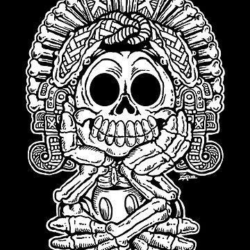 Mictlantecuhtli: Aztec Death God (Cartoon Edition) by ZugArt
