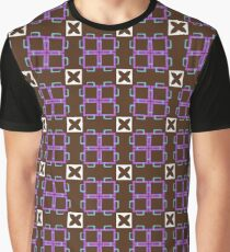 shapes pattern square seamless colorful repeat Graphic T-Shirt