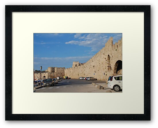 Medieval wall, Rhodes by David Fowler