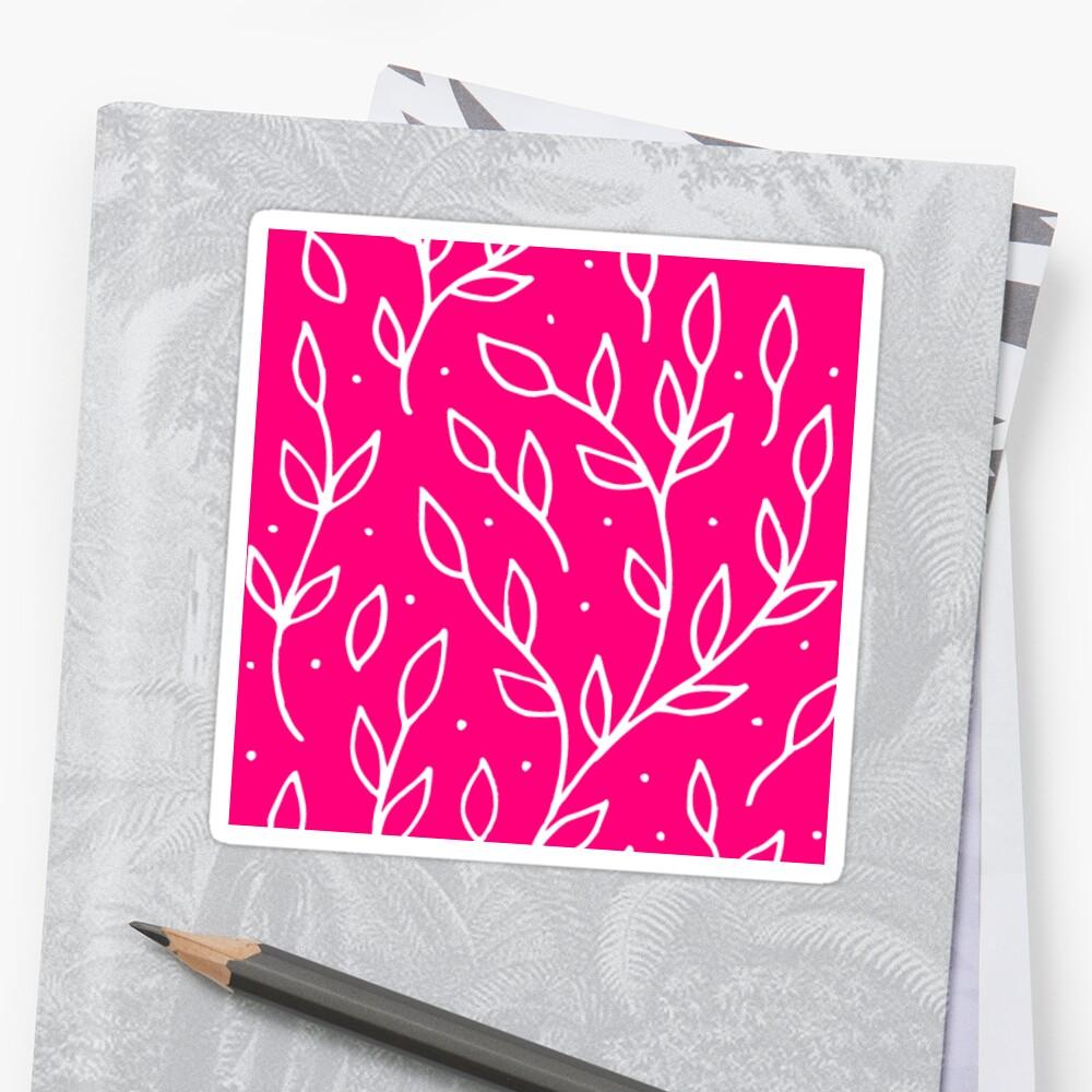 Flower Sticker Cute Gift for Girls White Twigs 9 by threadsmonkey