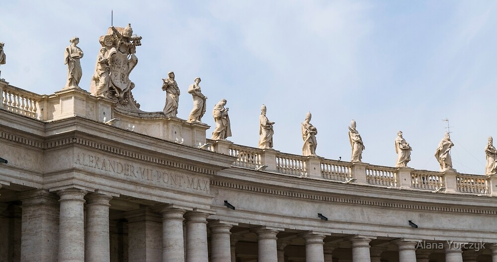 Saints Guarding St. Peter's Square by Alana Yurczyk