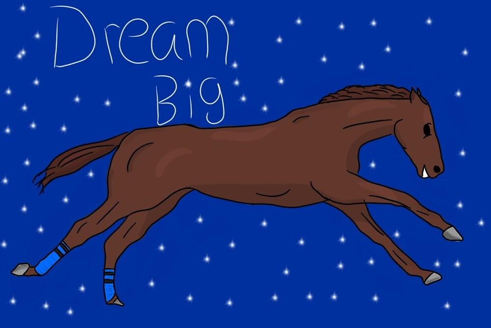 Dream big justify horse by Eqdoodles