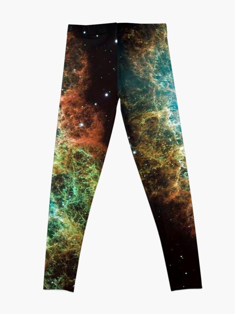 Alternate view of Crab Nebula, #Crab, #Nebula, #CrabNebula,  #fog, #nebulae, #interstellar, #cloud, #dust, #hydrogen, #helium, #ionized, #gases,  #astronomical, #object, #MilkyWay, #Andromeda,  #galaxies, #Hubble Leggings