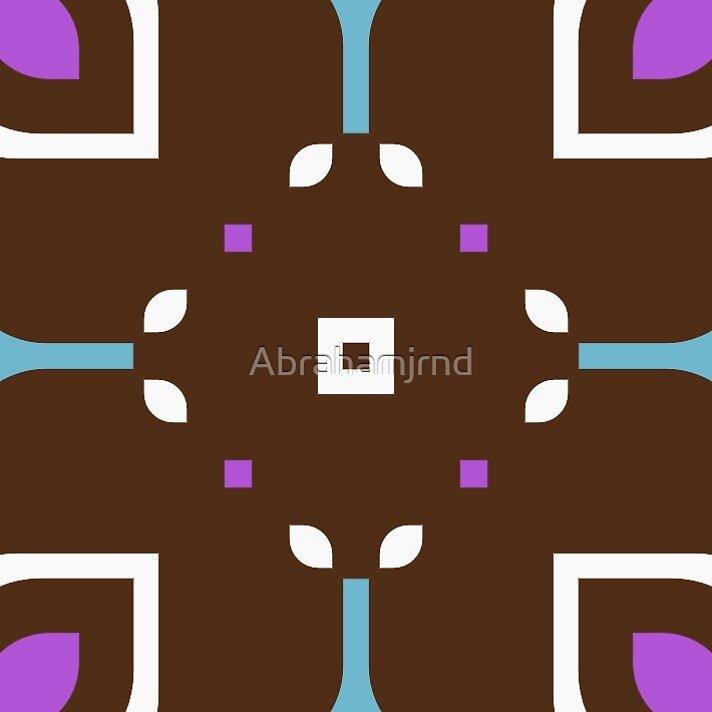 rectangles shapes retro 60's square seamless colorful repeat pattern by Abrahamjrnd