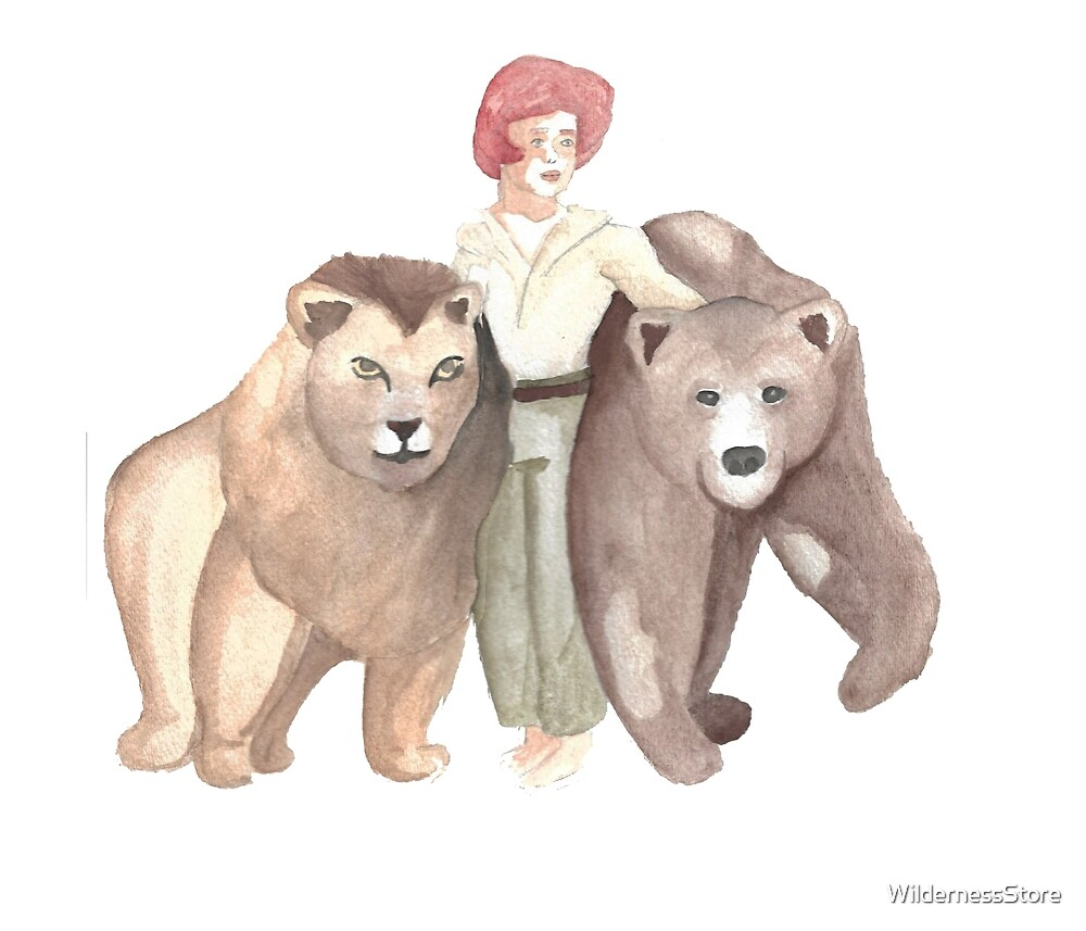 Boy, Lion, and Bear by WildernessStore