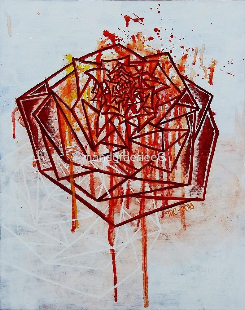 Geometric Rose by mandyfaeriee6