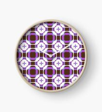sixties square fashion retro shapes seamless colorful repeat pattern Clock