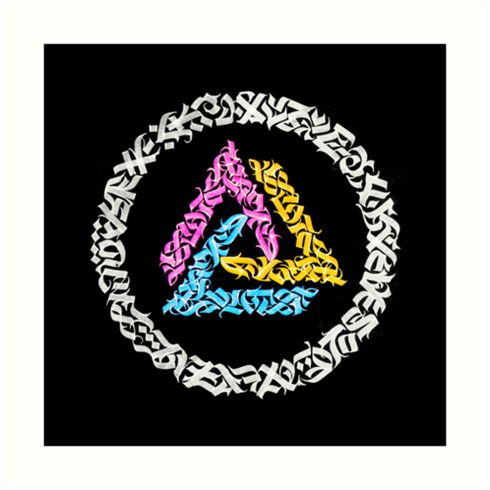 Calligraphy Triangle by qiyoulu