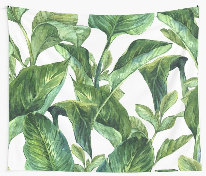 Tropical Palm Leaves by ANNA EVE