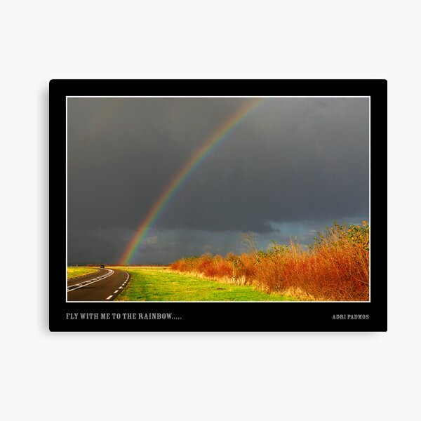 Fly with me to the rainbow..... Canvas Print