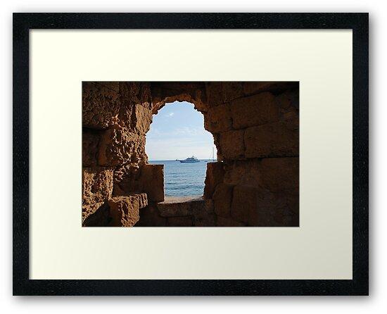 Medieval window, Rhodes by David Fowler