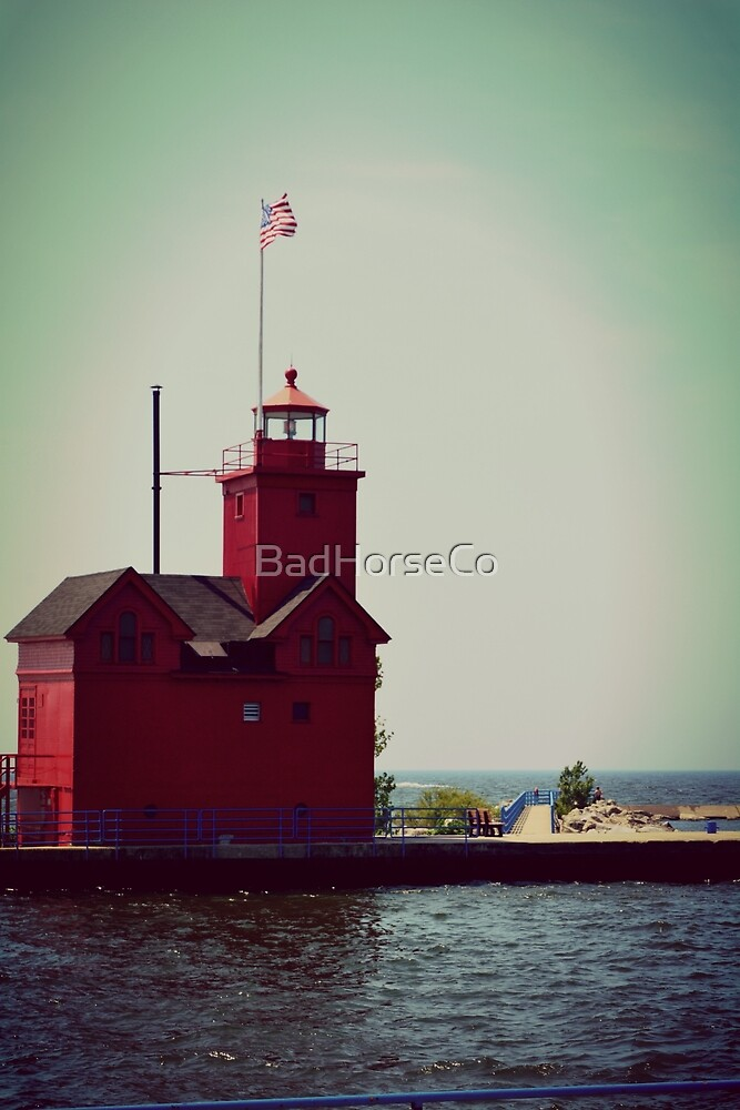 Big Red Lighthouse by BadHorseCo