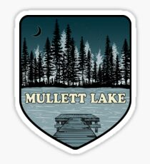 A Mullett Lake Night Sticker