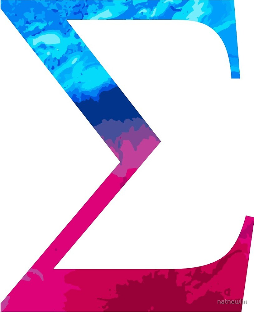 Sigma Greek Letter Tie Dye by natnewlin