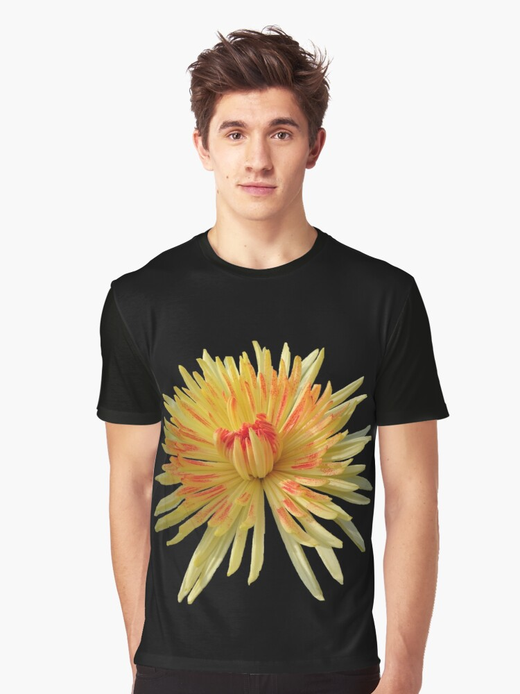 enchanting flower in the colors yellow and red Graphic T-Shirt Front
