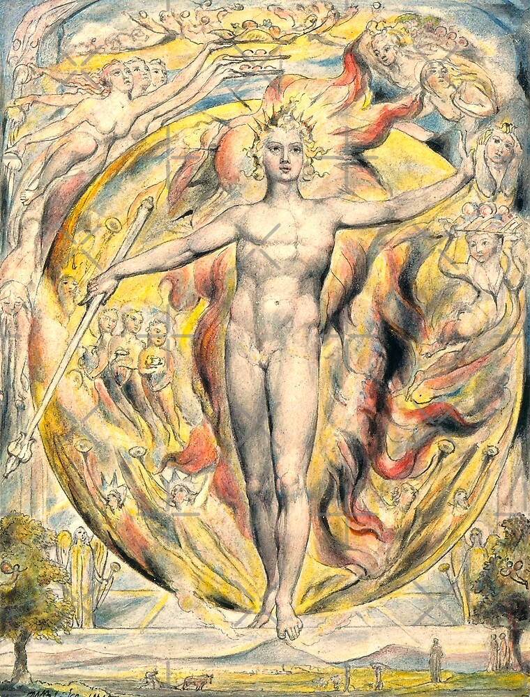 HD The Sun at His Eastern Gate, by William Blake HIGH DEFINITION Original colors by mindthecherry