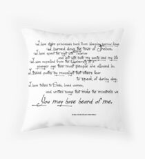 you may have heard of me Throw Pillow