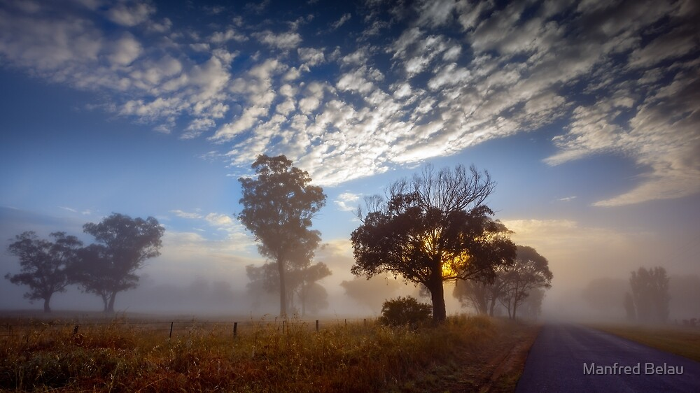 Early Morning Landscape by Manfred Belau