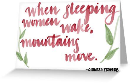 When Sleeping Women Wake by Nancycurb