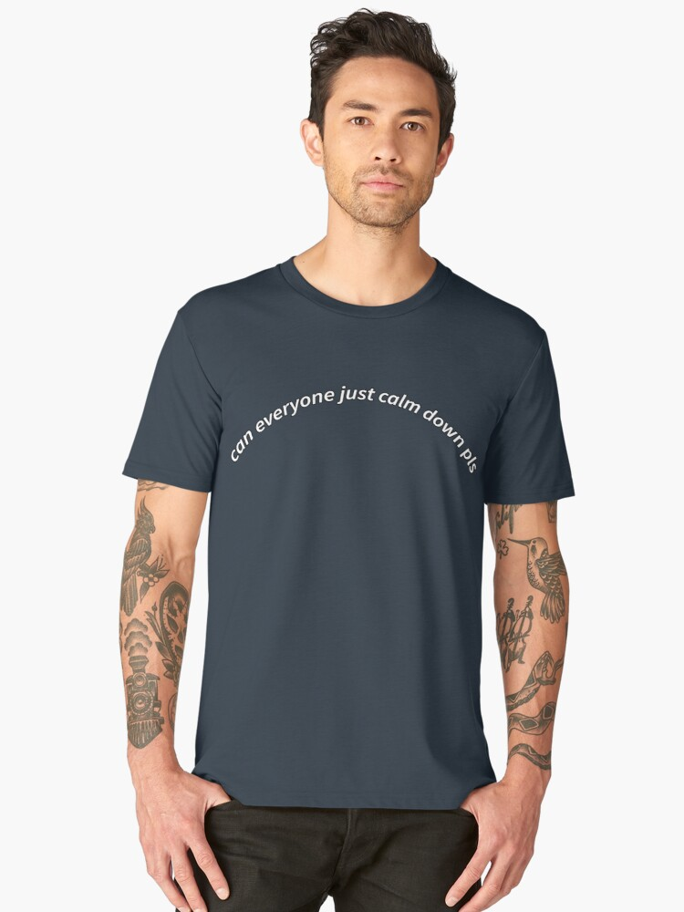 can everyone calm down pls Men's Premium T-Shirt Front