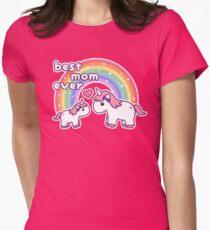 Cute Unicorn Mom Women's Fitted T-Shirt