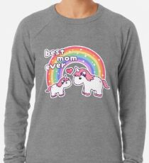 Cute Unicorn Mom Lightweight Sweatshirt
