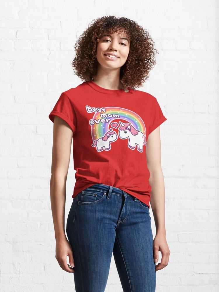 Alternate view of Cute Unicorn Mom Classic T-Shirt