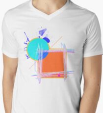 Abstract Expressionism Men's V-Neck T-Shirt