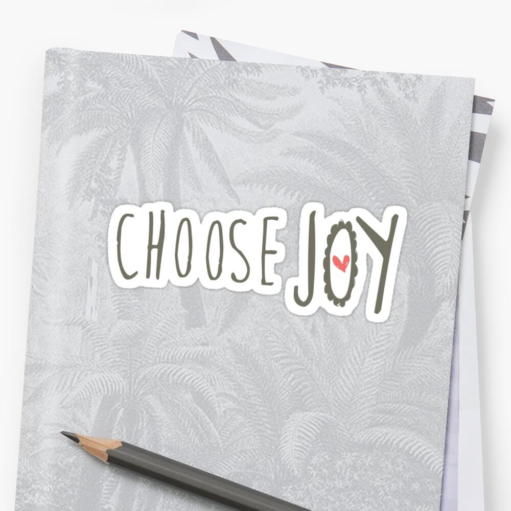 Choose JOY Christian sticker, tumbler decal, illustrated faith by UncommonFaith