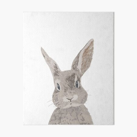 Bunny Rabbit tea time 8x10  art PRINT Janimals gift impressionism new
