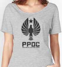 Pan Pacific Defense Corps Sigil (Black Variant) Women's Relaxed Fit T-Shirt