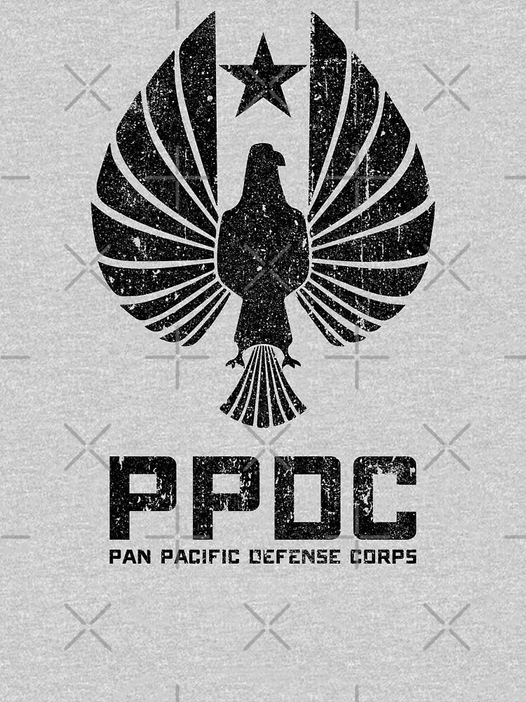 Pan Pacific Defense Corps Sigil (Black Variant) by huckblade