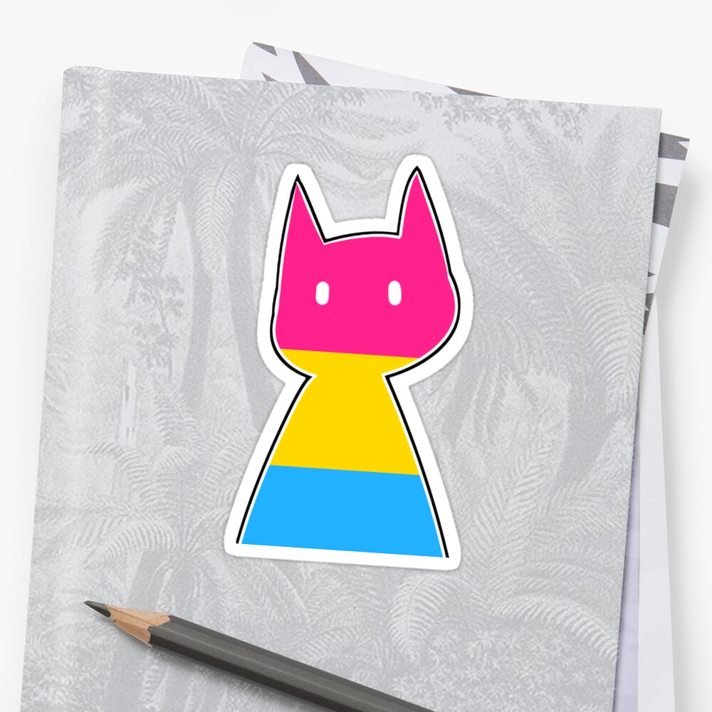 Pan Pride Cat Sticker by perseidipity