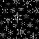 Snowflakes Black by AdTheBad