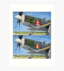 P51 Cheshire CATh noseart Art Print