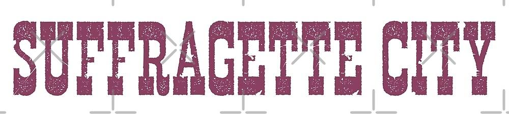 Suffragette City Single Cover Logo by pickledjo