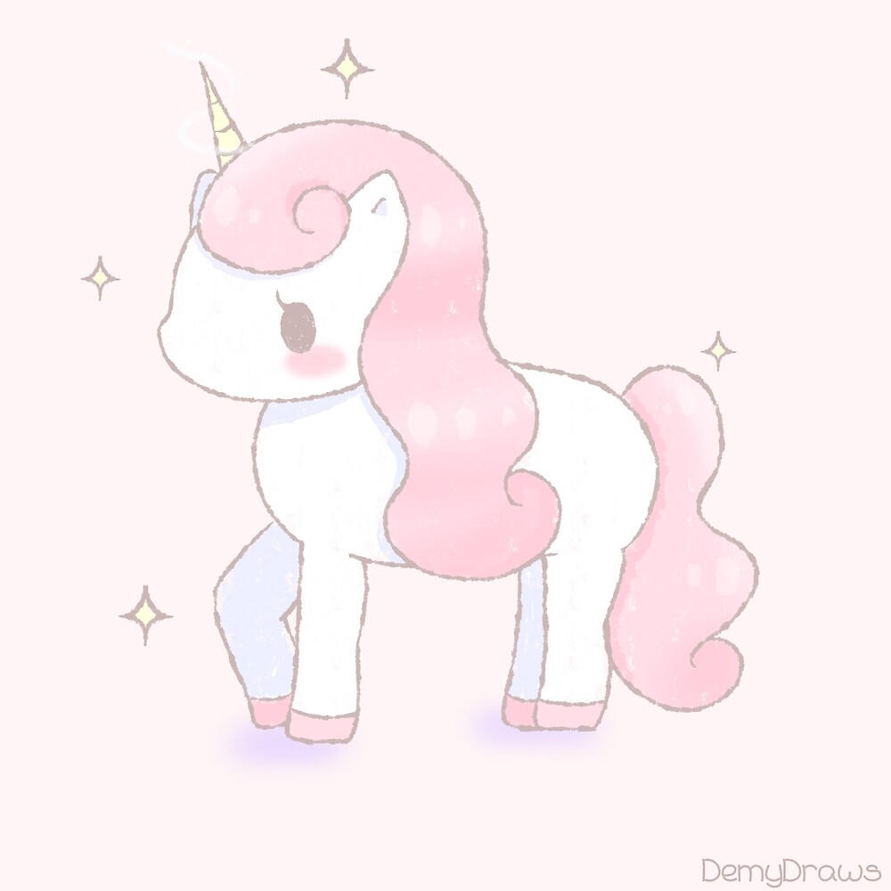 Magical Pink Unicorn by demydraws