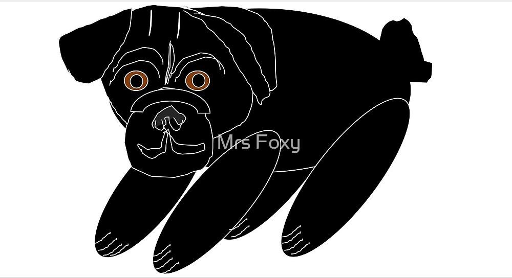 Pug Puppy by Mrs Foxy