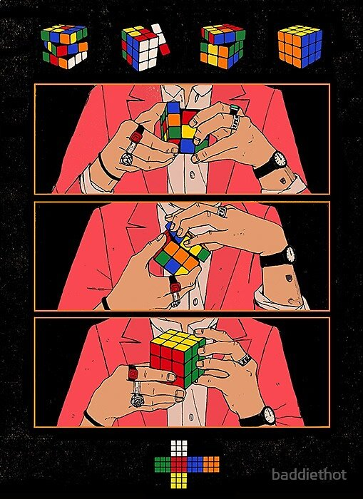 harry styles rubiks cube by baddiethot