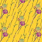 flower stripe yellow by hahaha-creative