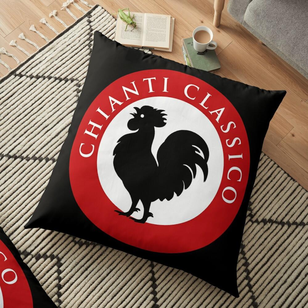Black Rooster Chianti Classico Floor Pillow