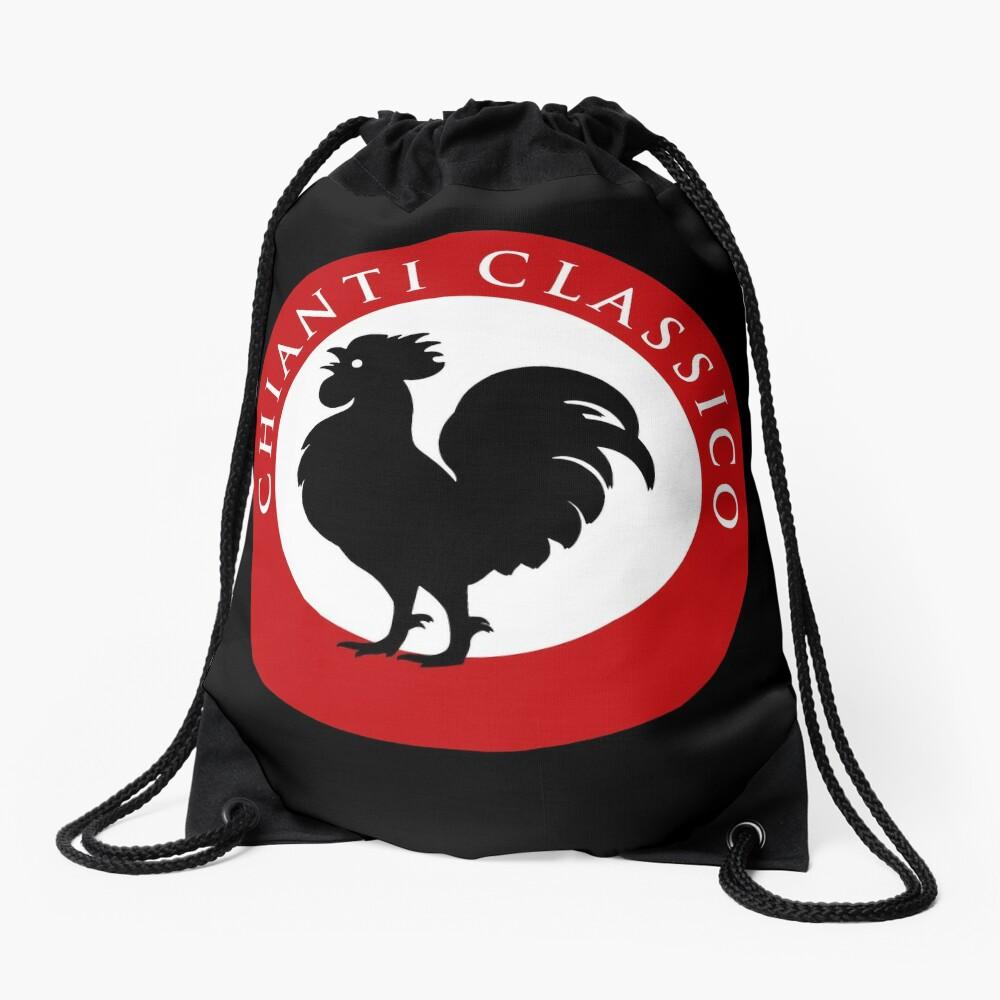 Black Rooster Chianti Classico Drawstring Bag