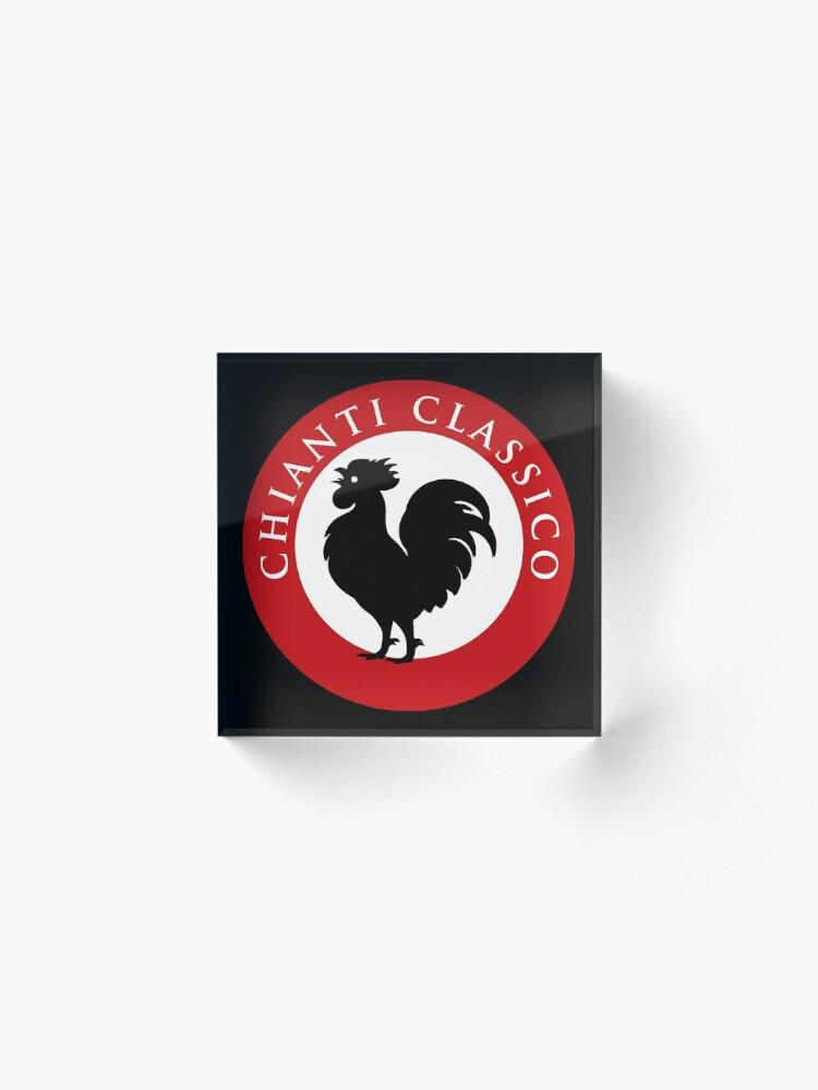 Alternate view of Black Rooster Chianti Classico Acrylic Block