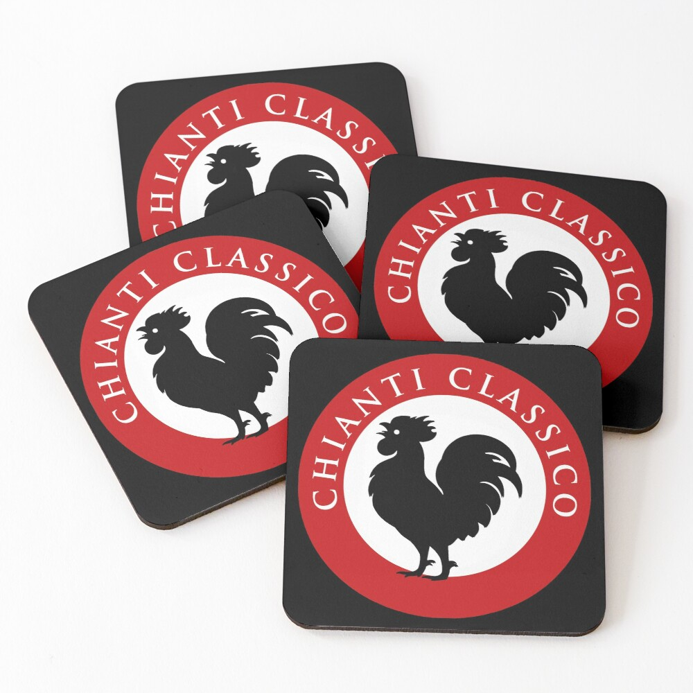 Black Rooster Chianti Classico Coasters (Set of 4)