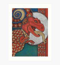 The Lizard King Art Print