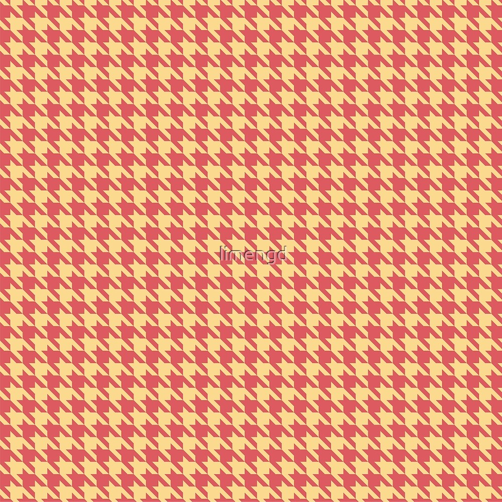 Red & Yellow Houndstooth Pattern by limengd
